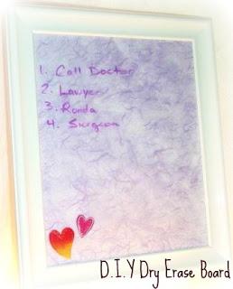 D.I.Y. Dry Erase Board