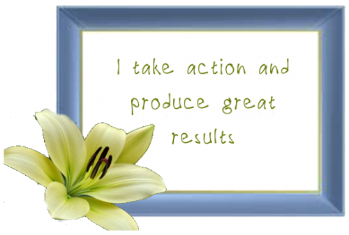 Affirmation take action