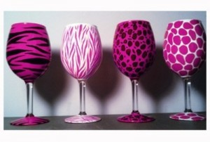 cool crafts | painting on wine glasses