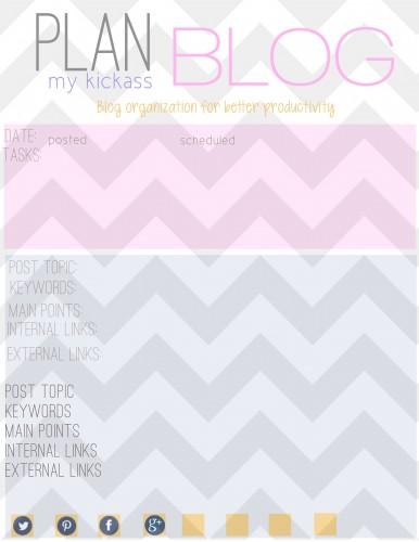 blog planner | planning your blog posts