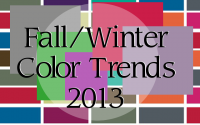 Do Not Miss Color Trends of the Season: Fall/Winter 2013