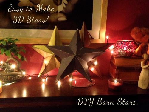 DIY Barn Stars | 3D Stars