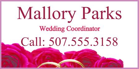 custom banner | wedding banner