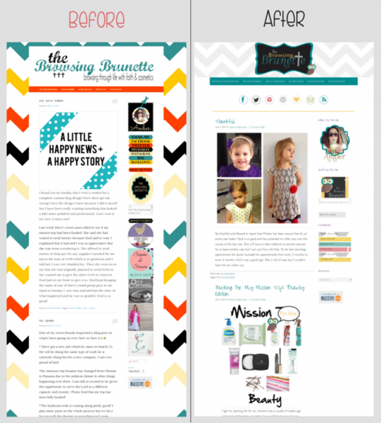custom blog desing | feminine wordpress