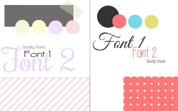 feminine blog design