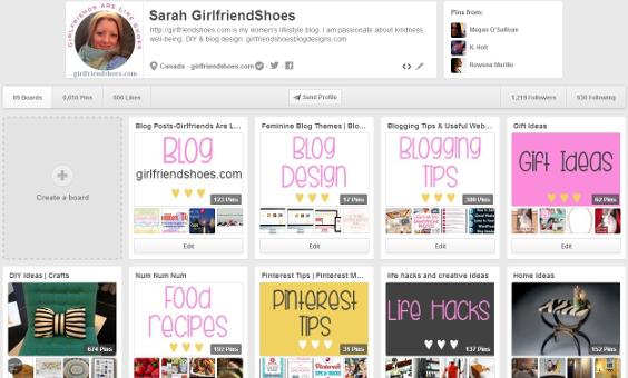 Girlfriendshoes Pinterest Boards