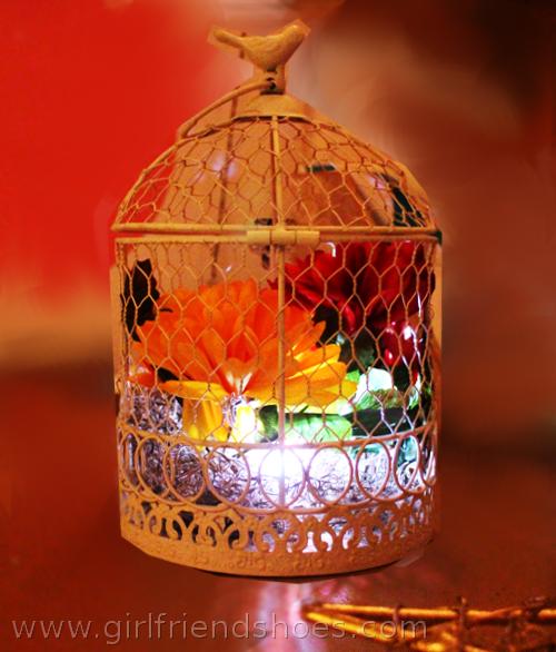 fall bird cage