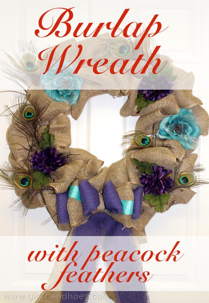 burlap wreath pin