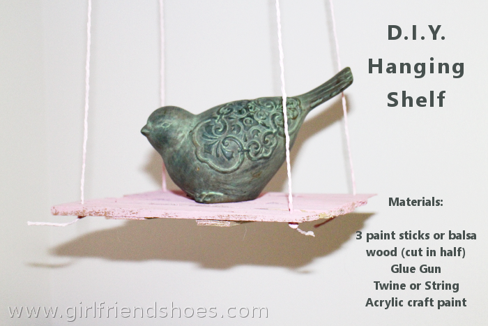 D.I.Y. Hanging Shelf | Paint Stirrers