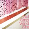 gold striped shelf