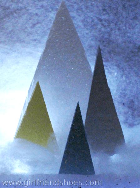 foam board little trees