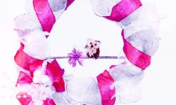 Mesh Wreath – Pink, White & Silver