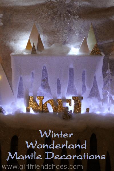winter wonderland mantle decorations