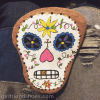 rock painting sugar skull